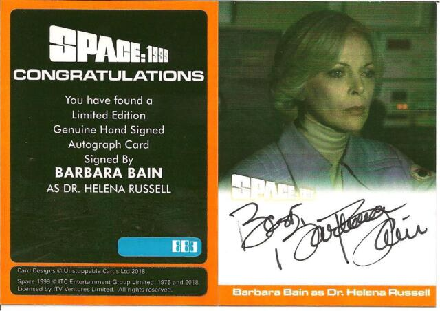 UNSTOPPABLE CARDS BARBARA BAIN AUTOGRAPH CARD BB3 SPACE 1999 SERIES 2  CARD B