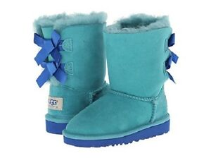 d2d6f6afc9f Details about NEW IN BOX UGG Toddler Bailey Bow Boots Marlin 33280 T / MRL  Sizes 7, 8, 10