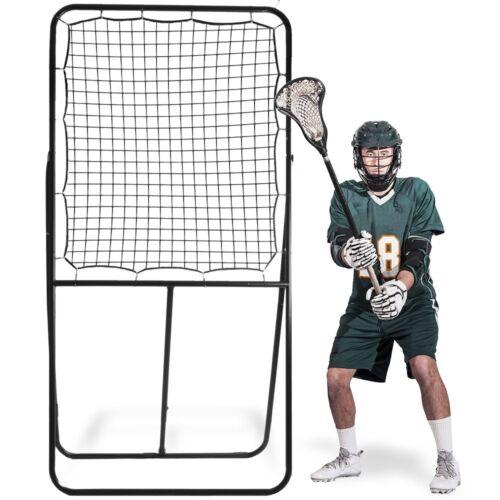 "8ft Frame 48/""x41/"" Net Lacrosse Multi-Position Adjustable Practice Rebounder"