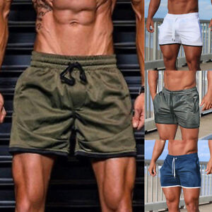 Mens-GYM-Shorts-Training-Running-Sport-Workout-Casual-Jogging-Beach-Short-Pants