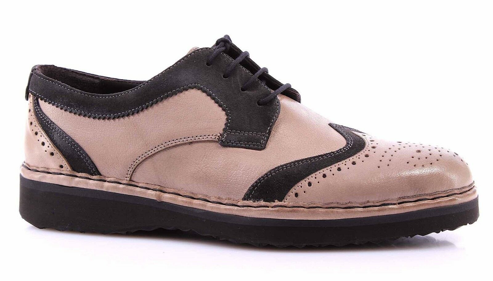 shoes men GALIZIO TORRESI 610536 Buf Fri grey SG Pelle grey Tortora