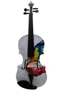 BRAND NEW Full Size Geneva Butterfly Visual Art Violin w/ Case, Bow & Rosin