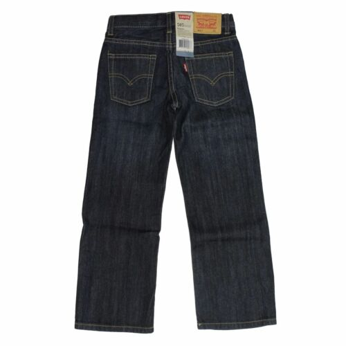 Levi/'s 505 Straight Leg Regular Fit Jeans for Boys Adjustable Waistband 10  D-4