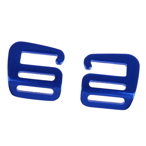 2pcs Sturdy Metal G Hook Webbing Quick Release Buckle Backpack Bag Blue