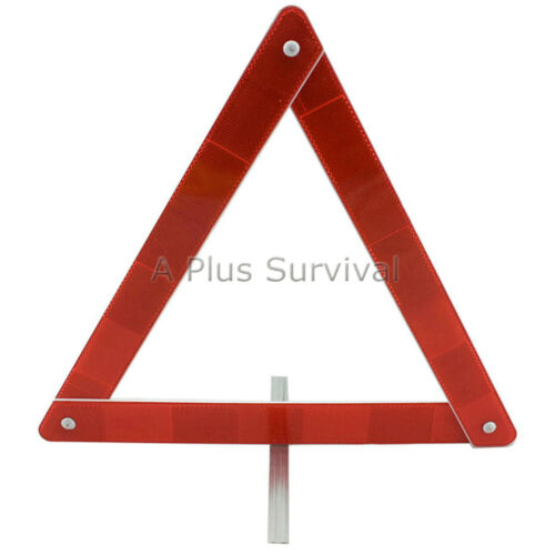 Lot of 3 Reflective Triangles for Roadside Emergencies