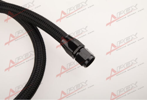 """36/"""" 90°10AN Nylon Braided Racing Performance Oil Fuel Coolant Line Hose Assembly"""