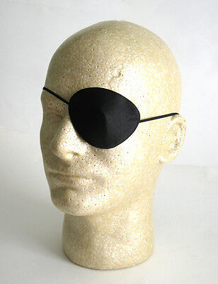 Deluxe Silk Pirate Eye Patch Evil Villian Easy Mens Adult Halloween Costume