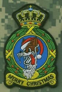 USAFE F-15C 32ND TFS WOLFHOUNDS SOESTERBERG (CHRISTMAS SPECIAL) SQN PATCH