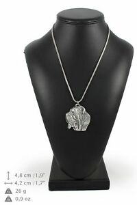 Neapolitan-Mastiff-silver-plated-pendant-with-silver-cord-Art-Dog-IE