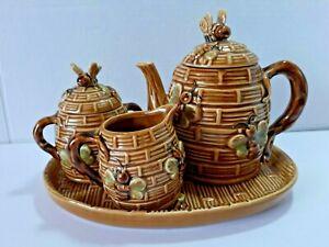 Miel de thé set HONEY BEES théière sucrier pot à lait Plateau Jardin Buddies