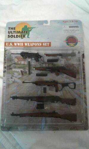 THE ULTIMATE SOLDIER U.S RARE * WWII ARMES SET 21st CENTURY TOYS NEUF