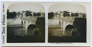 Roma Italia Stereo Analogica Vintage Ca 1905