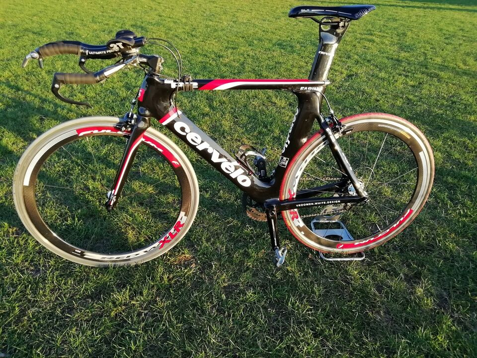 Triatloncykel, Cervélo P2, 56 cm stel