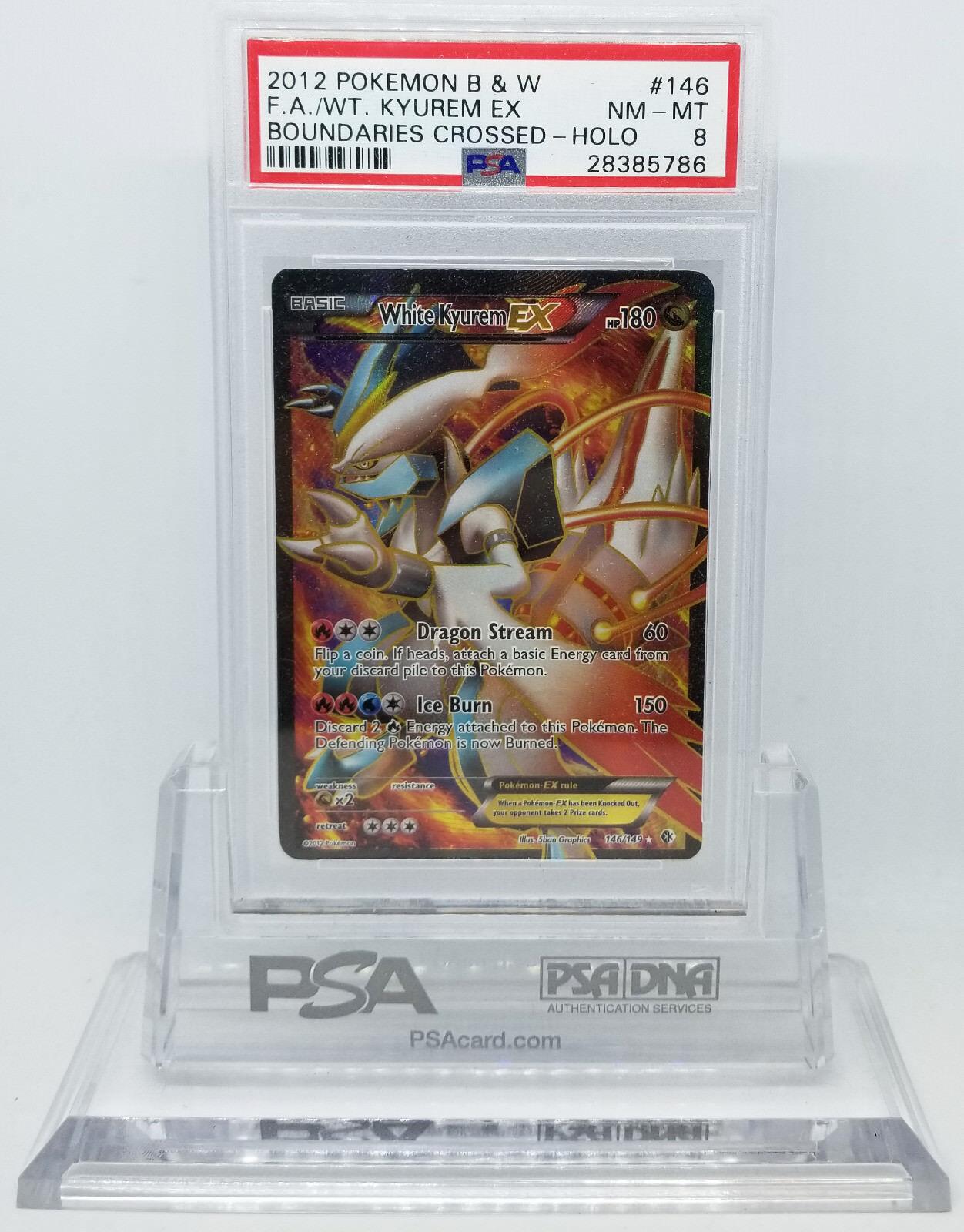 Pokemon grenzen überschritten kyurem voller kunst, weiße ex - 146   149 holo - psa - 8 nm-mt