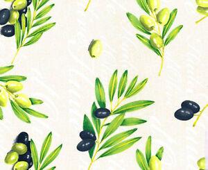 wachstuch tischdecke meterware oliven italia mediterran eckig rund oval m19140 ebay. Black Bedroom Furniture Sets. Home Design Ideas