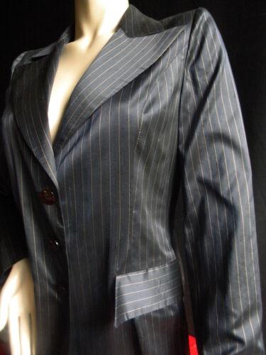 Plume Seta Tailor Stripes Satin Black Pantaloni Giacca Abito lunghi 42 Donna wzxqSSX7