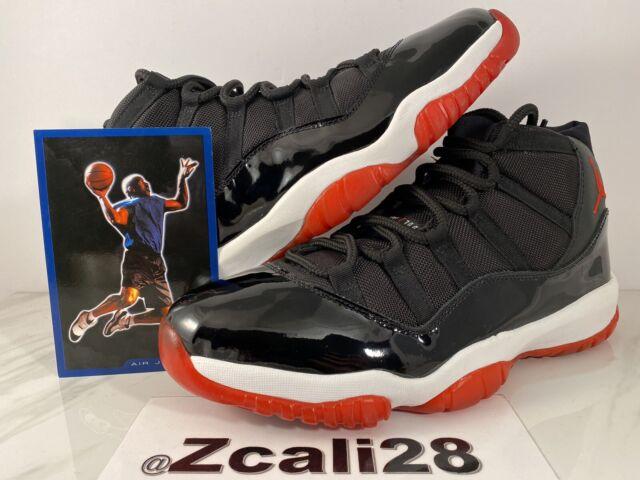 2001 Nike Air Jordan XI 11 Retro Black Red Bred 136046-061 Size 11 ...