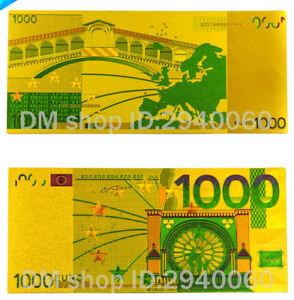 """★ Europe / France : Billet Polymer """" Or """" De 1000 Euro ★ Ntyr7w0i-08000407-865099880"""
