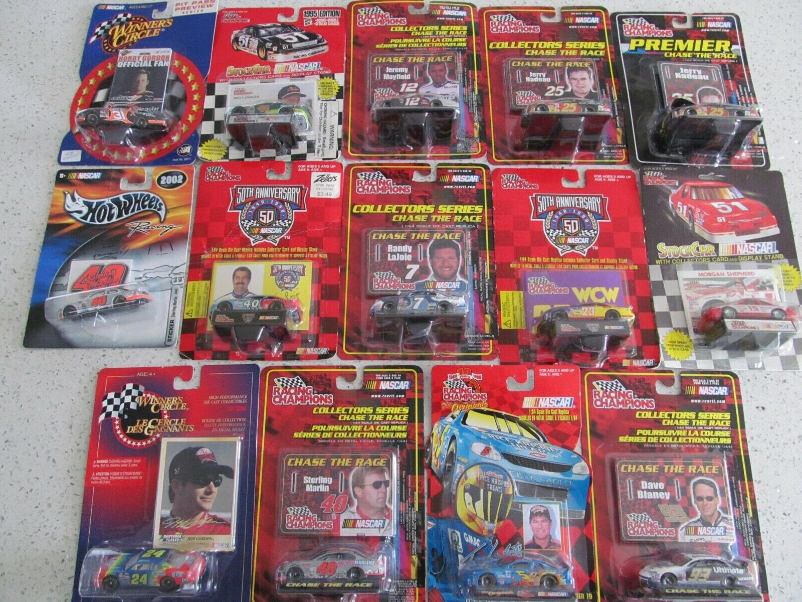 Racing Champions Winners Circle Hot Wheels Nascar 1 64 Scale Die Cast Lot of 14