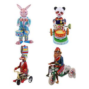 4x-Vintage-Colorful-Windup-Animal-Acrobatics-Model-Clockwork-Tin-Toys-Room-Decor