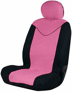 Sumex-Unicorn-Universal-Single-Padded-Foam-Front-Car-Seat-Cover-in-Pink-amp-Black