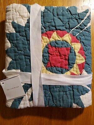New Pottery Barn Maisie Std Quilted Pillow Sham Standard 20 X 26 100 Cotton Ebay