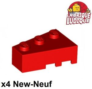 LEGO Lot of 4 Red Technic Large Wedge Wing Bricks