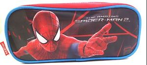 Marvel-The-Amazing-Spider-Man-2-Boy-039-s-Girl-039-s-Triple-Compartment-Pencil-Case-NWT