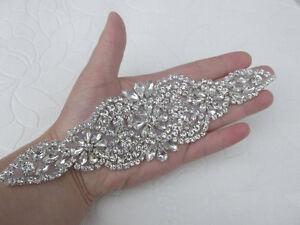 Crystal applique rhinestone applique wedding applique beaded