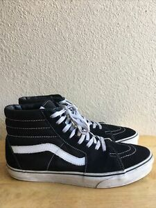 Vans-Old-Skool-Skate-Shoes-Sneakers-High-Top-Casual-Black-amp-White-Men-s-Size-11