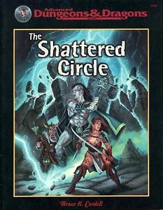 THE SHATTERED CIRCLE VF! 11325 AD&D D&D TSR Module Dungeons Dragons Adventure