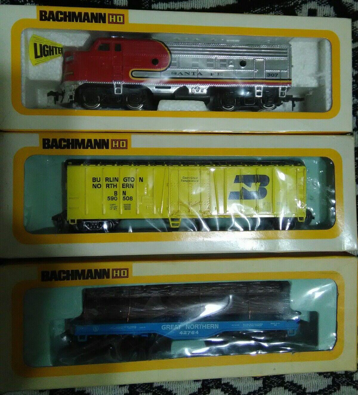 Bachmann Bros. Electric Trains HO Scale Locomotive Box Flat Car (Set of 3) (NEW)