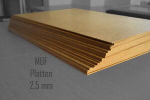 Hervorragend MDF Holzplatten verschiedene Größen 2,5mm dick stark Holz TE22