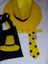ADULT HAT Tie   Tote Bag Man in the yellow hat Curious George Halloween  costume 4728b71aa51