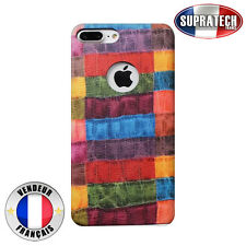 Coque Luxe Rigide Simili Cuir Motif Multicolore Croco pour Apple iPhone 7 Plus