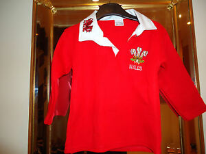 BRAND NEW WELSH RUGBY SHIRT BABY SIZES 3 mnths to 3 yrs
