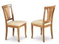 Set Of 6 Avon Dinette Kitchen Microfiber Upholstered Dining Chair In Light Oak