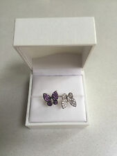 DIOR - Christian Dior ladies butterfly diamante / 925 Silver dress ring - Boxed