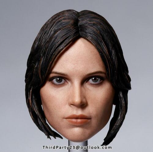1//6 Felicity Jones Head Sculpt Star Wars Hot Toys Jyn Erso phicen ❶US IN STOCK❶