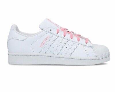 Adidas Originals Superstar J CG6617 Leather Girls Trainers White Shoes | eBay