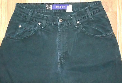 Levis Silver Tab Jeans Mens 32x32 Black Denim Pants Baggy USA 5J21