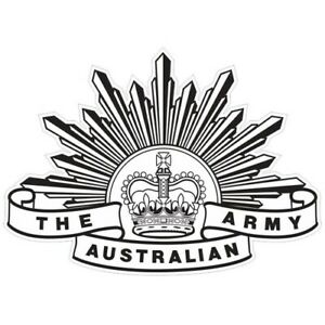 AUSTRALIAN ARMY RISING SUN BADGE 7TH PATTERN DECAL 100MM X 72MM | AUTHORISED | R
