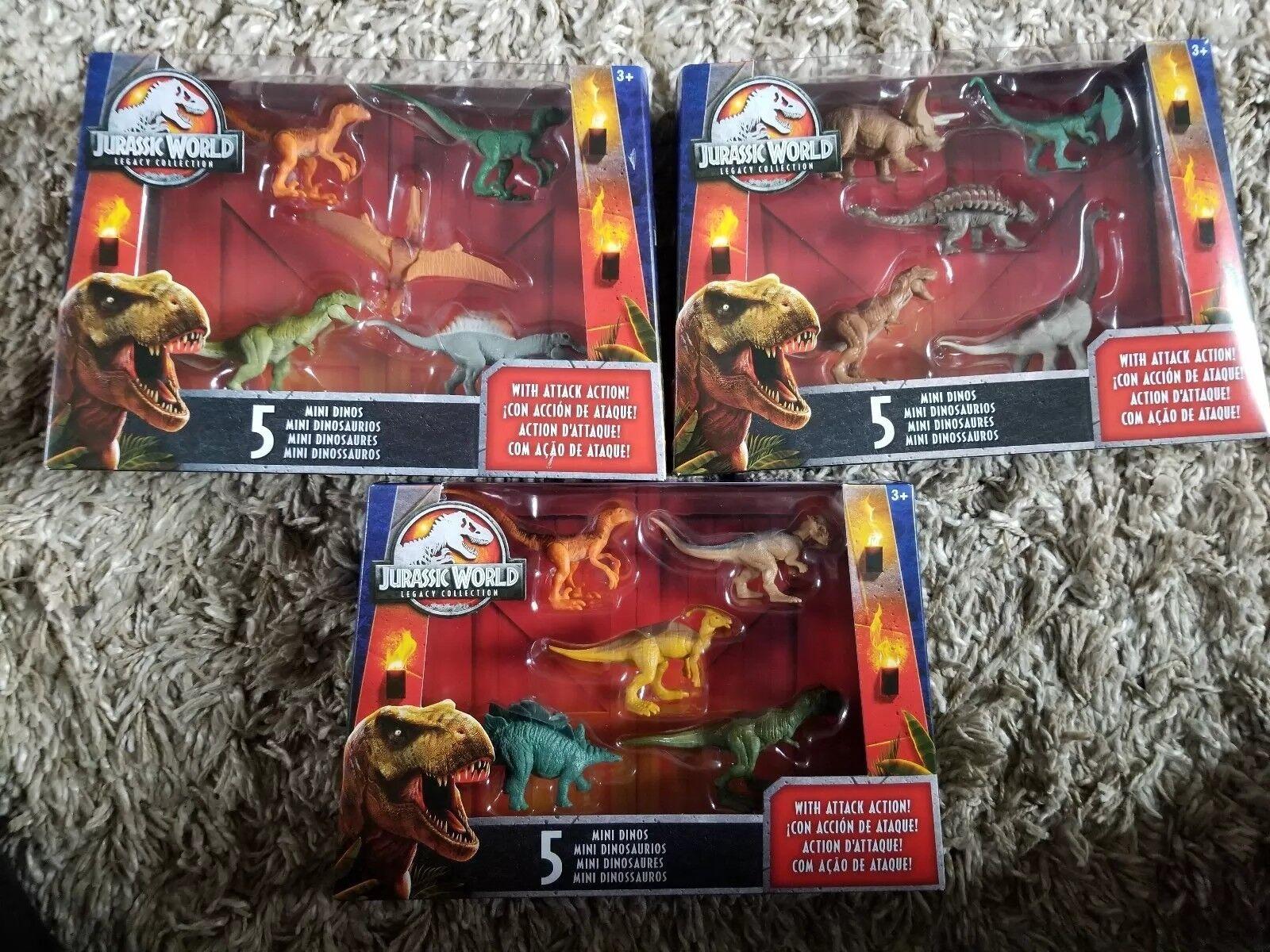 Jurassic World Legacy collezione 15 Mini Attack Dinos nuovo