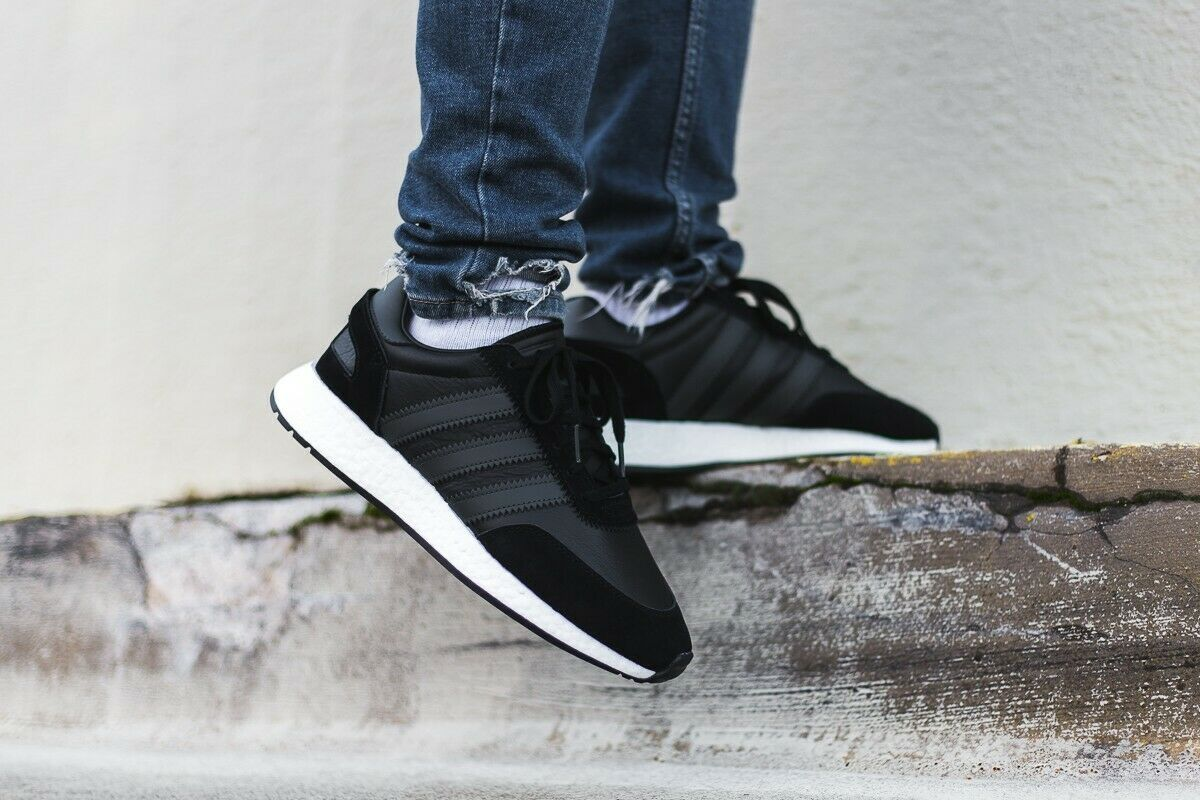 130 New Adidas Originals I-5923 Leather Leather Leather shoes Casual Boost Athletic Black-White 8e7374