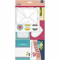Basicgrey J'adore Mini Valentine Kit Scrapbooking Cards Stickers Envelopes Love
