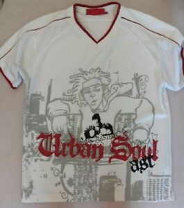 T-SHIRT-MAILLOT-MANCHES-COURTES-Associes-Urban-Soul-polyester-taille-34-TTBE