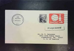 United-States-2-1975-Paquebot-Covers-w-Senegal-Cancels-Z1545