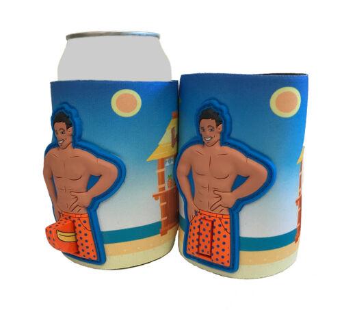 Woody Dick Man Can Cooler Huggie Insulators Man With Banana In Pants Black Hair