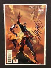 J SCOTT CAMPBELL REMARQUED Spider-Man Captain America Marvel Comics Original Art