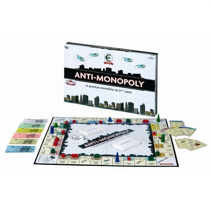 Jeu de société Anti-Monopoly - Le grand jeu immobilier du XXIème siècle